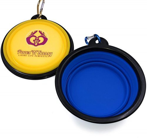 Paws 'N' Sassy Collapsible Dog- Collapsible Dog Bowl
