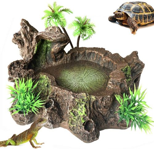 PINVNBY Artificial Tree Trunk Reptile Tank - bearded dragon tank décor