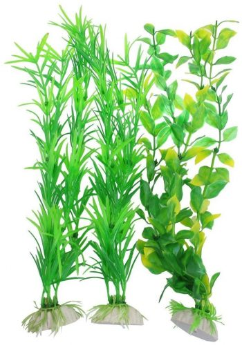 CNZ 3-piece Aquarium Plastic Artificial Plants | aquarium carpet plants
