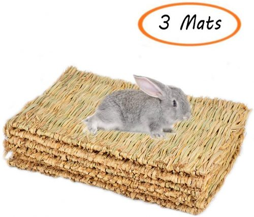 Hamiledyi Grass Mat Woven Bed - bunny beds