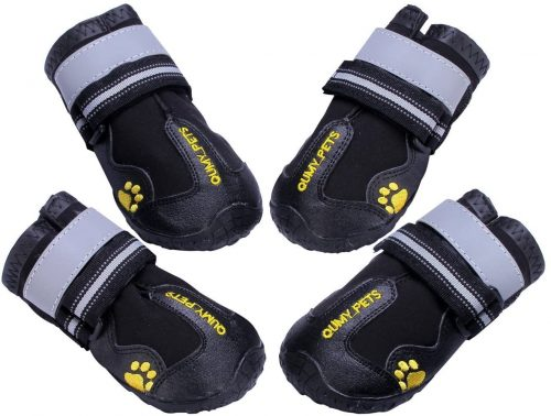 QUMY Dog Boots Waterproof Shoes for Dogs - dog booties for summer