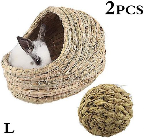 kathson Woven Pet hay Bed for Hamsters - bunny beds