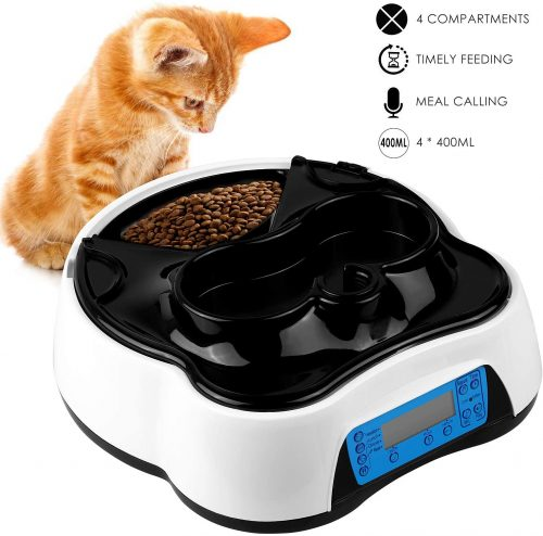 pedy Automatic Cat Feeder 2 in 1, Dog Auto Feeder Pet Food  | Wet Cat Food Dispenser