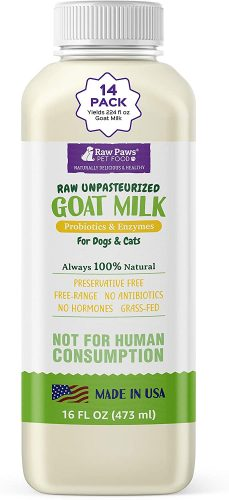 Raw Paws Frozen Raw & Powdered Goat Milk for Dogs & Cats| Goats Milk for Puppies