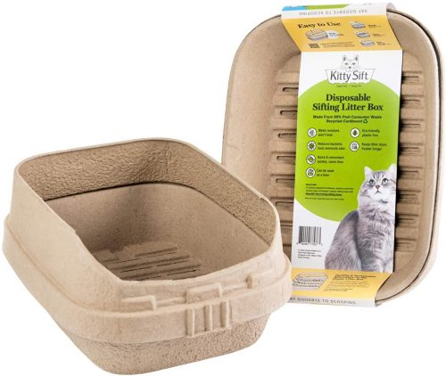 8. Kitty Sift Disposable Sifting Litter Box and Eco-Friendly | Disposable Cat Litter Box