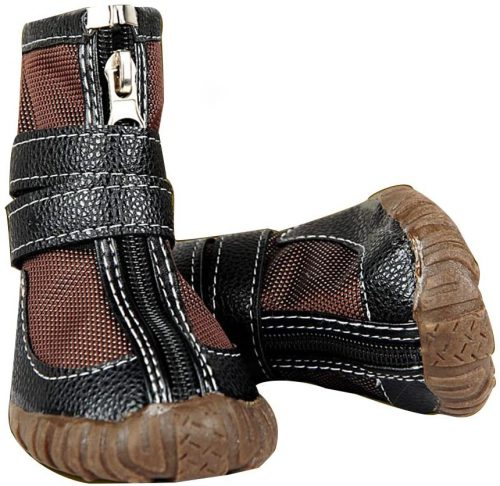 FLAdorepet Large Big Dog PU Leather Sport Shoes Winter| Dog Winter Boots