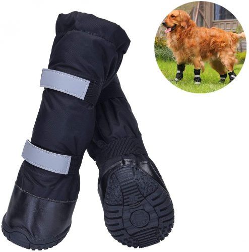 HiPaw Winter Water Resistant Dog Boots Nonslip Rubber Sole| Dog Winter Boots