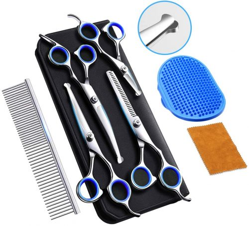 Professional Dog Grooming Scissors with Safety Round Tip | Dog Grooming Scissors
