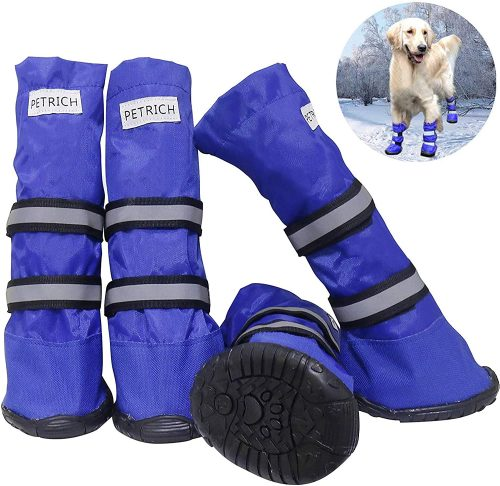 URBEST Dog Shoes, Waterproof Dog Boots, Warm Lining Nonslip| Dog Winter Boots