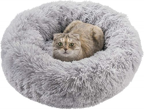 Qucey Dog Cat Bed Soft Comfortable Faux Fur| Self Warming Dog Bed