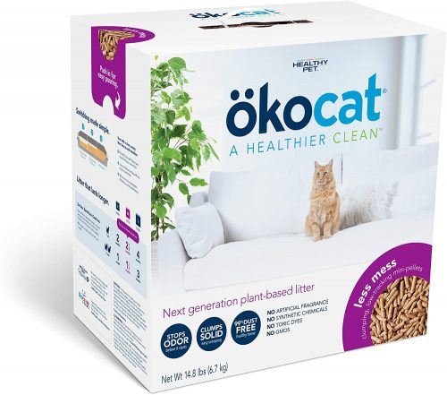 ökocat Natural Wood Clumping Cat Litter (Package may vary)   wood pellet cat litters
