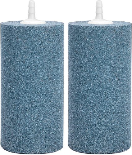 Vivohome 4x2 Inch Cylinder Air Stone (Pack of 2)  | Fish Tank Bubbler