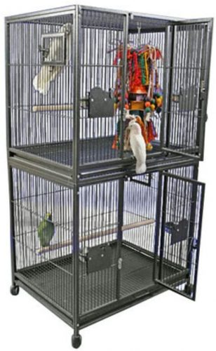 A&E Cage Co. Double Stack Breeder Cage | Parakeet cages