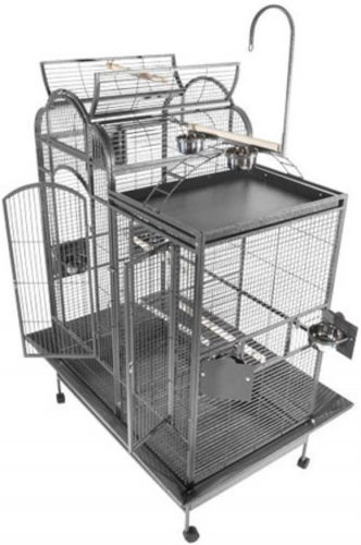 A&E Cage PC-4226D Platinum Split Level House Bird Cage | Canary Cage