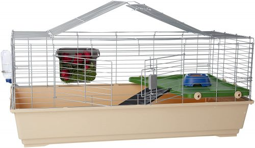 AmazonBasics Small Animal Cage Habitat With Accessories | large rabbit cages