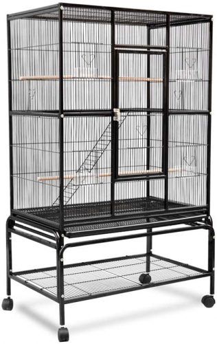 Hkwshop Birdhouses Large Metal Parrot Bird Cage | Canary Cage