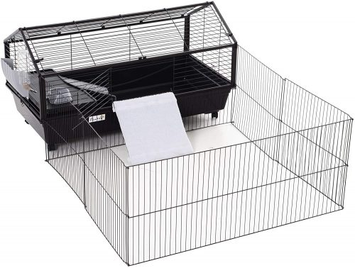 PawHut Rolling Metal Rabbit | large rabbit cages