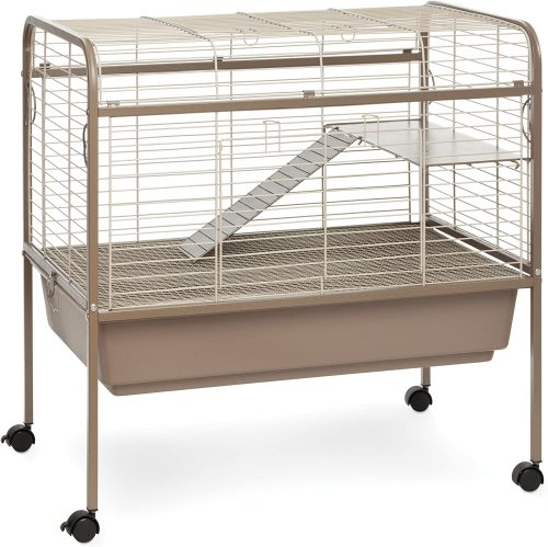 Prevue Hendryx Cocoa & Cream Small Animal Cage Stand | large rabbit cages