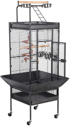 YAHEETECH 61/69 inch Playtop Wrought Iron Large Parrot Bird Cages | Parakeet cages