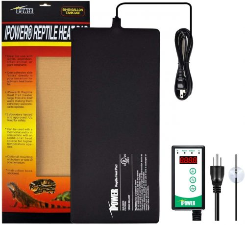 "iPower PTHTPDCTRLV2HTPDXL 8""x18"" Reptile Heating Pad 