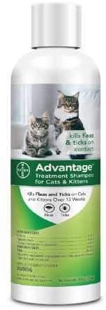 Advantage Shampoo Flea and Tick Treatment  | Flea & Worm Treatment For Cats