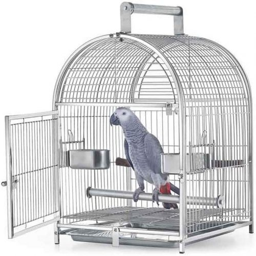 NYKK Birdhouses Stainless Steel Small Budgie  | Stainless Steel Bird Cage