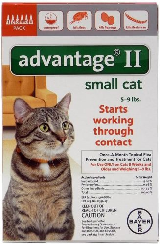 Advantage Once-A-Month Topical Flea Treatment  | Flea & Worm Treatment For Cats