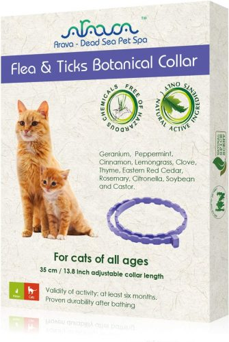 Arava Flea & Tick Prevention Collar | Flea & Worm Treatment For Cats