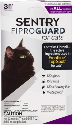 Sentry FIPROGUARD Cat & Kitten Topical Flea  | Flea & Worm Treatment For Cats