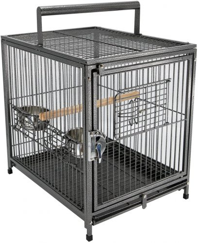 "PawHut 22"" Heavy Duty Wrought Iron Travel Bird Cage 