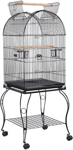 Topeakmart Medium Parrot Bird Cage for Cockatiels  | Stainless Steel Bird Cage
