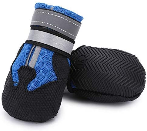 Dimicoo Breathable Mesh Dog Boots Nonslip Soft Rubber| Non Slip Booties For Dogs