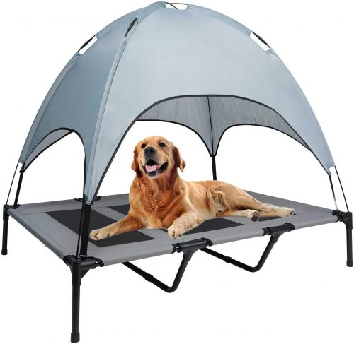 WANTRYAPET Elevated Dog Bed with Canopy, Portable| Travel Dog Bed