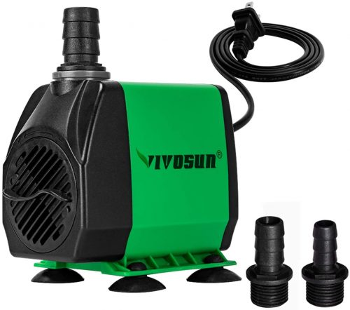 VIVOSUN 800GPH Submersible Pump(3000L/H, 24W) | Pond Water Pump