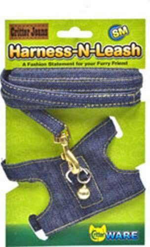 Ware Critter Jeans Small Animal Harness-N-Leash   Bearded Dragon Harness