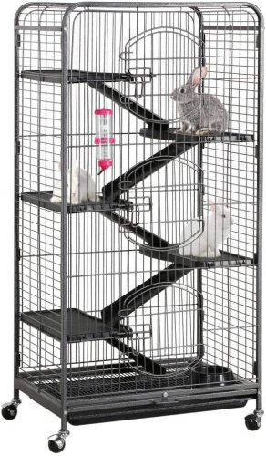 Yaheetech 37/52-inch Metal Ferret Chinchilla | Cage Tent For Bunny