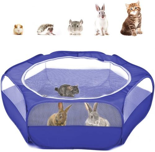 Bellanny Pet Playpen Portable Plastic Yard Fence | Cage Tent For Bunny