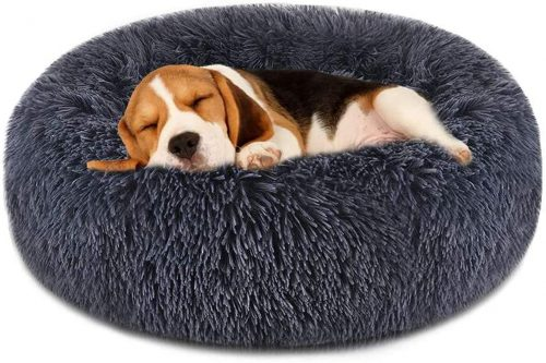 FOCUSPET Dog Bed Cat Bed Donut | Nest Dog Bed