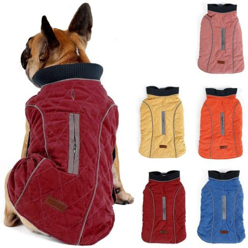 Pethiy Waterproof Windproof Reversible Dog Vest Winter| Dog Coat With Harness