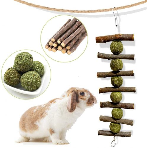 Bunny Chew Toys for Teeth, Natural Organic Apple Sticks  | Bunny Chew Toys