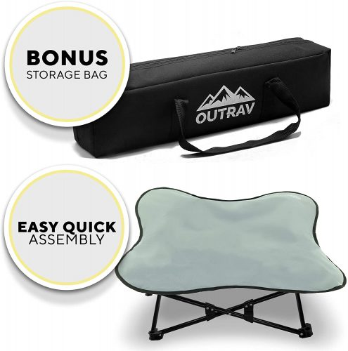 Portable Elevated Dog Bed | Folding Pet Cot for Indoor| Travel Dog Bed
