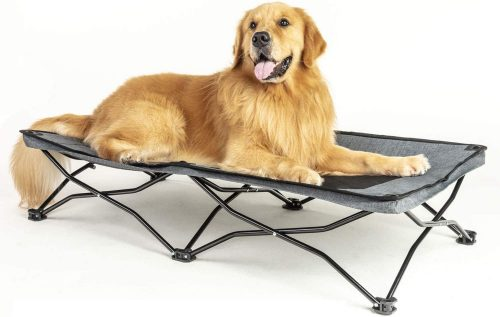 maxpama Portable Camping Elevated Pet Bed, Durable| Travel Dog Bed