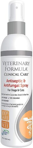 Veterinary Clinical Care Antiseptic and Antifungal  | Animal Shampoo Spray