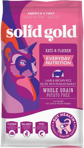 Solid Gold Dry Cat Food; Katz-N-Flocken Real Lamb  | Hypoallergenic Cat Food