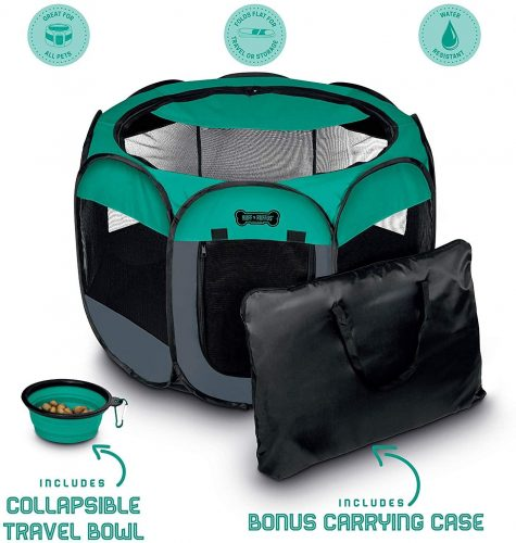 Ruff 'n Ruffus Portable Foldable Pet Playpen | Cage Tent For Bunny