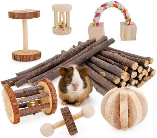 JanYoo Guinea Pig Toys Chinchilla Hamster Roller Rat| Bunny Chew Toys