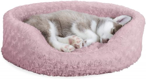 Furhaven Pet - Round Supportive Cuddler Nest Lounger  | Nest Dog Bed