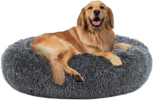 PUPPBUDD Calming Dog Bed Cat Bed Donut | Nest Dog Bed