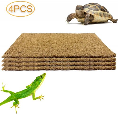 Alpurple 4 Packs Pet Terrarium Liner Reptile Mat | Tortoise Bedding