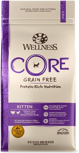 Wellness CORE Grain-Free Kitten Formula Dry Cat Food | Hypoallergenic Cat Food